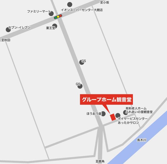 地図|グループホーム観音堂