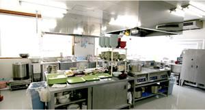 大館市立病院内 レストラン内厨房